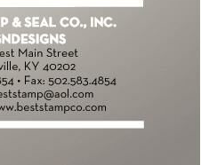 best stamp and seal co inc